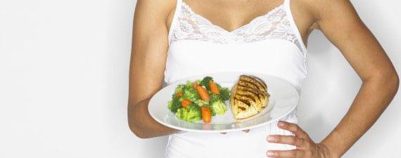 Cena de la dieta de 500 calorías