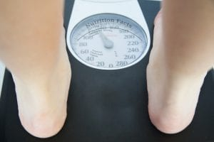 Peso tras adelgazar en un día