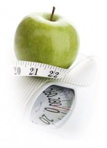 balanza + manzana
