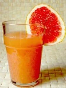 batido naranja y pomelo