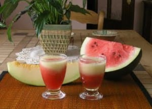 batido de sandia y melon