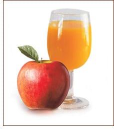 manzana y vaso
