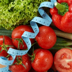 verduras y centimetro