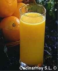 zumo de naranja con limon