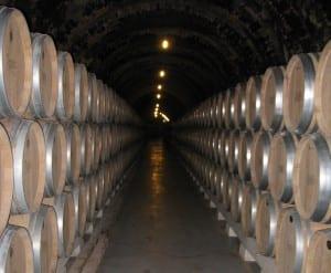 Tunel de Barricas en Bodegas Protos