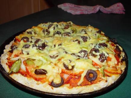 Pizza sin grasa