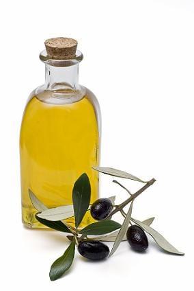 Botella de aceite de olivo