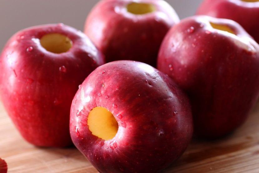 Corazón de las manzanas