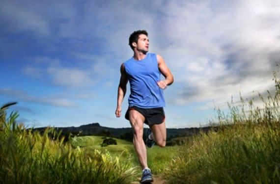 Atleta haciendo footing