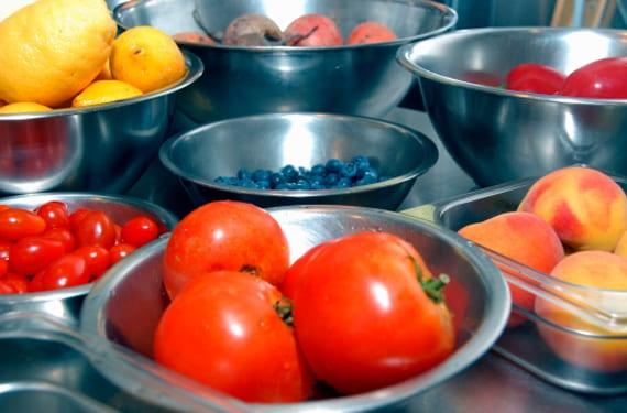 Platos de frutas y verduras