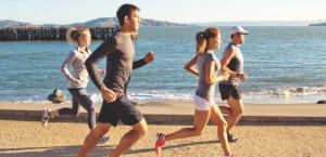 Personas practicando el running