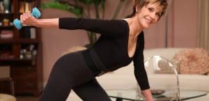Jane Fonda practica aerobic
