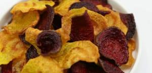 Chips de remolacha dorada