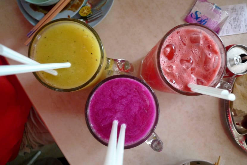 Batido de frutas light