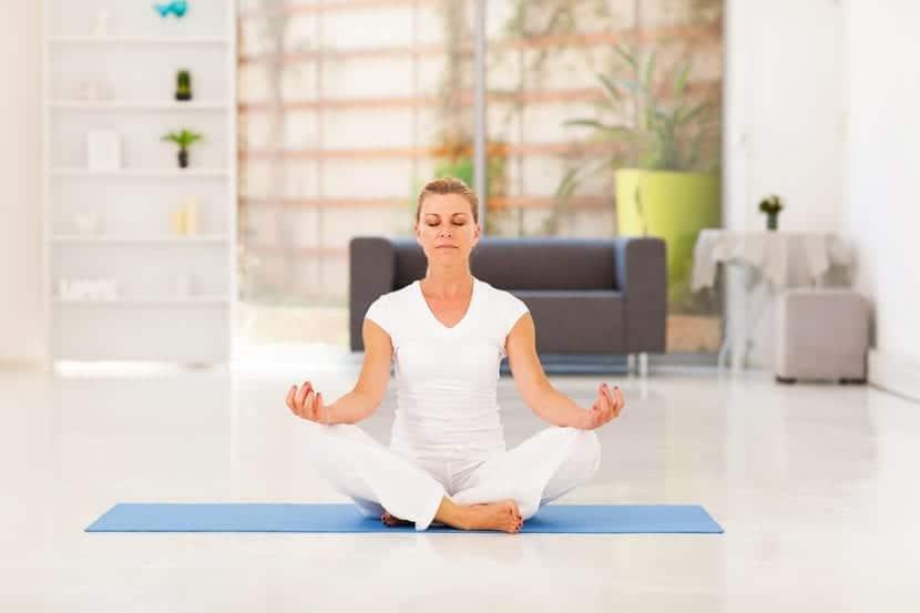 Espacio de meditación en casa