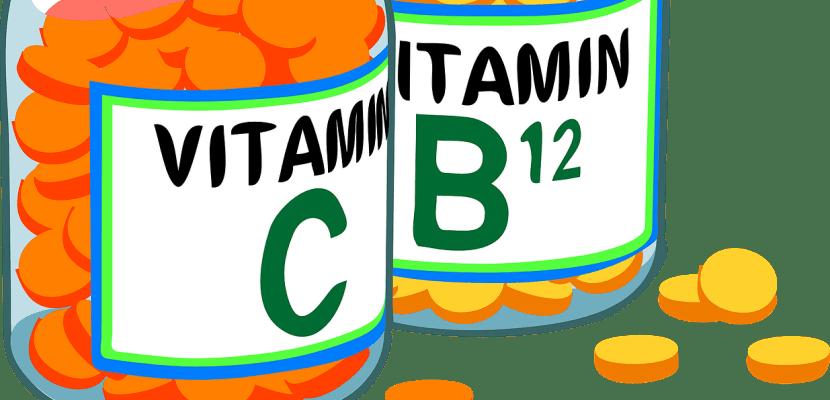 botes de vitaminas