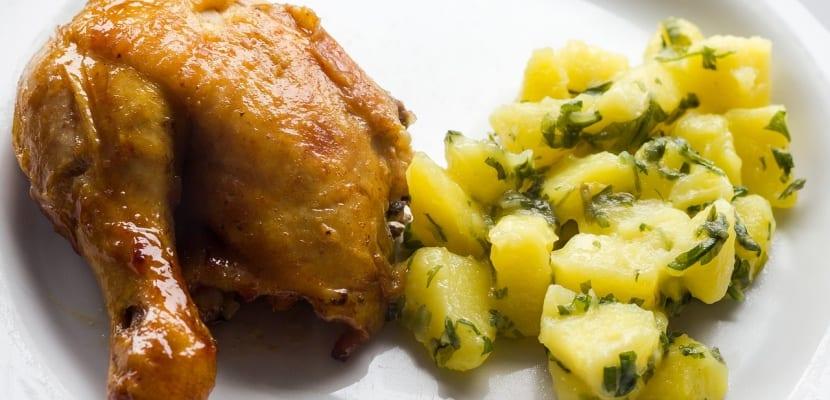 pata de pollo asada