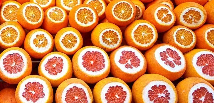 pomelo y naranjas