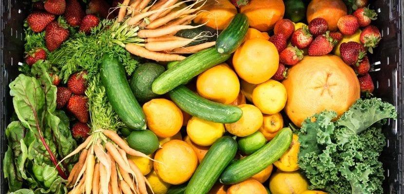fuente con verduras