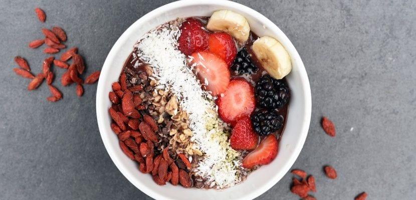 bol de frutas desayuno