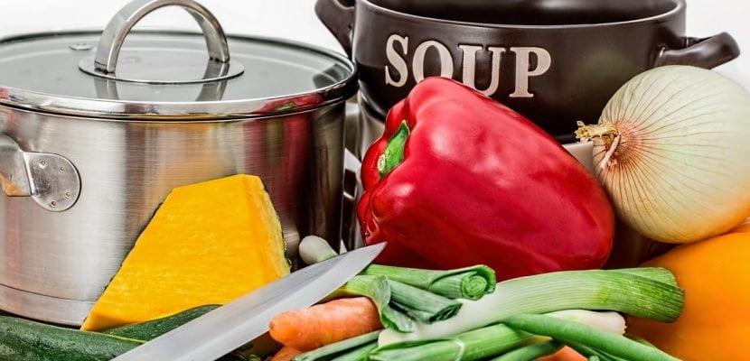 Preparación de una sopa